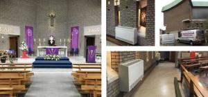 Church heating system inside